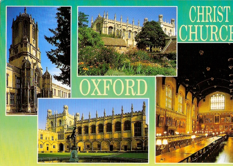 (This is my college, Christ Church, and some of you may recognise the dining hall as very similar to the one at Hogwarts in the Harry Potter movies! Yes, it was based on the Great Hall at my college and some scenes were filmed there)