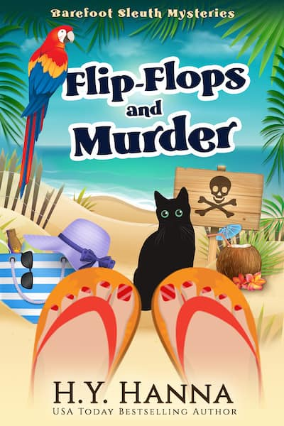Book cover for Flip-Flops and Murder by HY Hanna