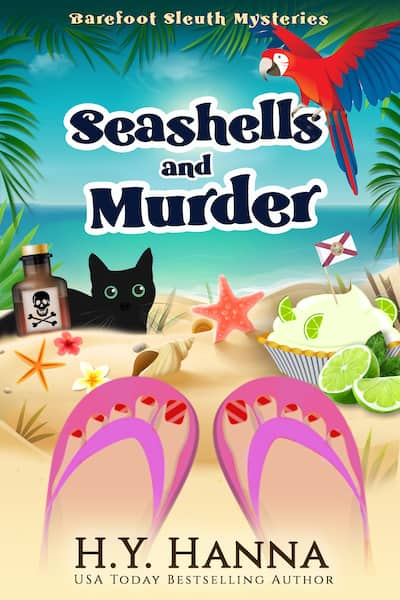 Book cover for Seashells and Murder by H.Y. Hanna
