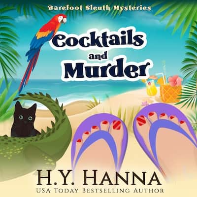 Audiobook cover for Cocktails and Murder by H.Y. Hanna